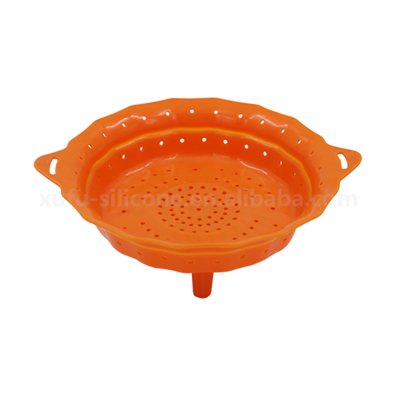 New design silicone drainer basket for washing fruit vegetable food