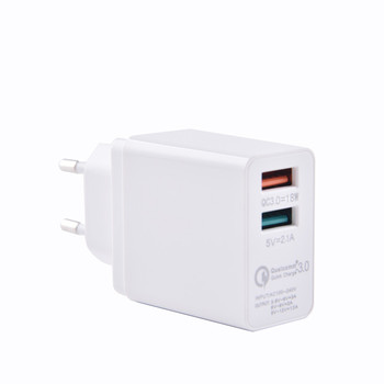 Alibaba High Quality Qc 3.0 Home Charger Eu Us Uk Plug Wall Charger Dual Usb Wall Charger