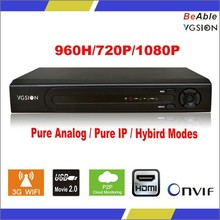 2015 New Arrival 16 ch 960H Hybrid DVR 16ch Audio Real-time Recording Video Recorder