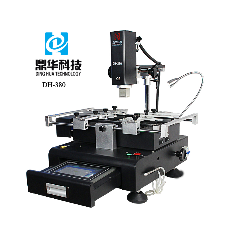 Dinghua DH-380 bga rework station mobile phone motherboard repairing machines with drawer-style touch screen