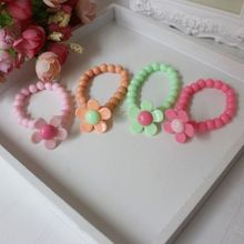Elegant Personalized 3 Sets Acrylic Flower Candy Colorful Bead Necklace Bracelet Set For Child's Girl Flower Gifts