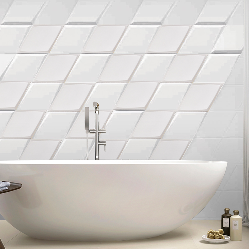 Best Selling White Diamond Ceramic Tiles Front Wall Kitchen Bathroom