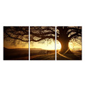 Landscape Mural Canvas Art/Magic Autumn Tree Canvas Prints/Multi Panels Sunset Artwork on Canvas