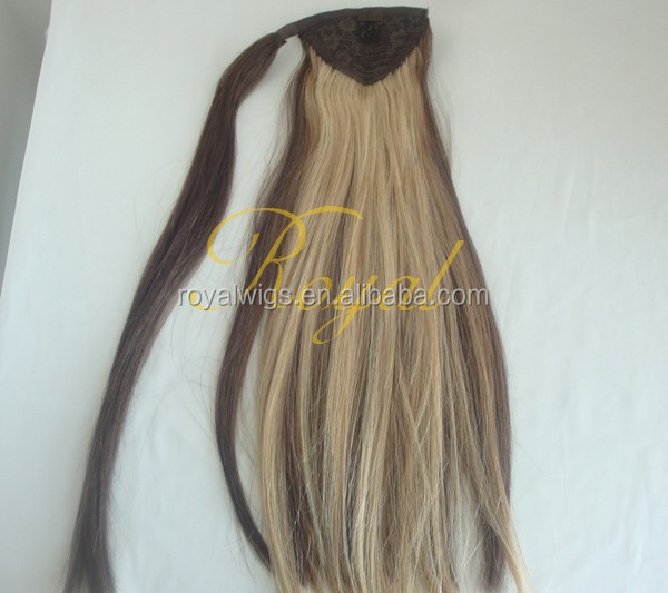 Top 7A Quality 100% Human real hair Fashion piano color pony tail wholesaler price