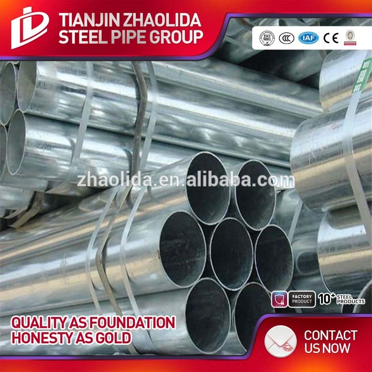 house gate designs 48mm round galvanized steel pipe/gi tube Large & Small Size Pre-galvanized Pipes Manufacture
