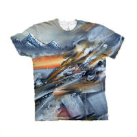 Custom logo dye sublimation t-shirt printing
