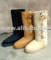 ultra lace up sheepskin boots