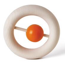 Wooden Teether ring Toy Infant Rattle Wooden Safe Eco Baby Teething Ring