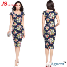 JS 20 Stylish Design Latest Women Casual One Piece Dress In Floral Print 729