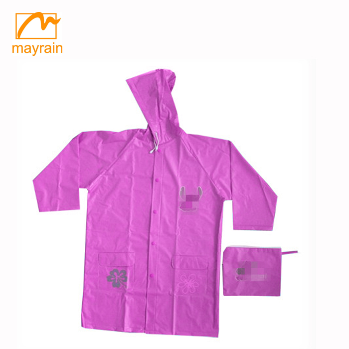 logo printing plastic poncho raincoat with hood