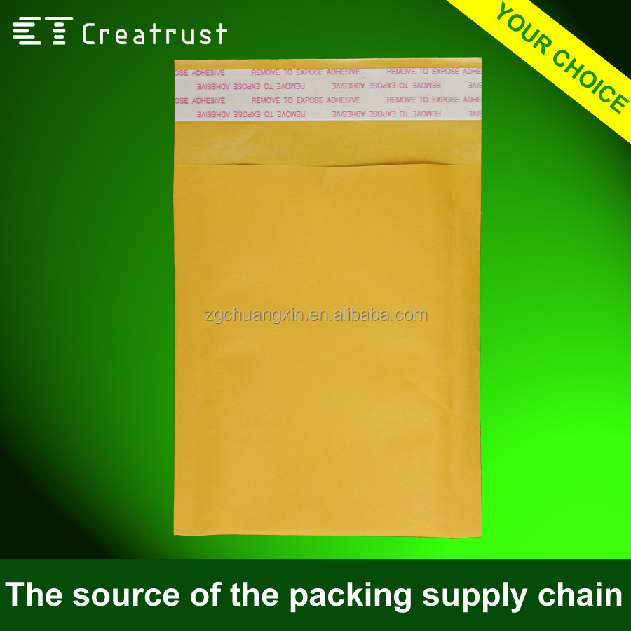 Factory Wholesale Yellow Kraft Bubble Bags a4 Envelope Size with Hot Melt Glue