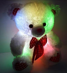 light up teddy bear plush toy/Led teddy bear/cheap teddy lighting bear toys