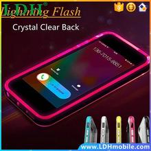 For Iphone 6S Baseus Shiny LED Flash Light 1mm Frame Case For Apple Iphone 6 4.7 Luminous Glitter Crystal Mobile Phone Cover