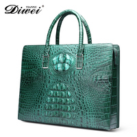 Guangzhou Manufacturer Trendy Crocodile leather laptop bag with code Lock