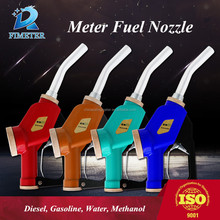 Auto sealing oil digital fuel meter nozzle petrol gun