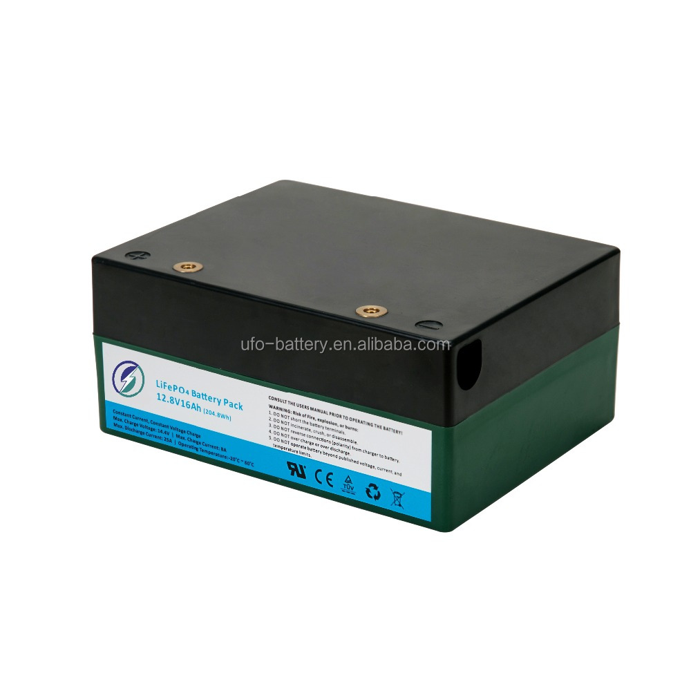 Sealed lead acid AGM replacement battery Pack lifepo4 12.8v 16Ah with 18650 li ion cells