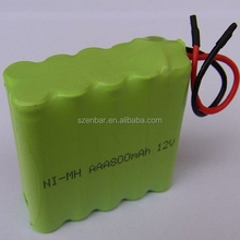 12v AAA 800mAh NiMH battery pack