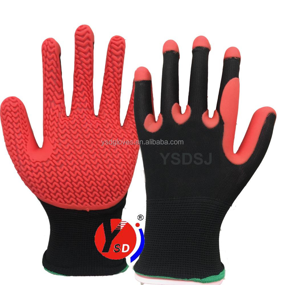 Super Grip gloves 2017 New Material TPE gloves injection working gloves N shape
