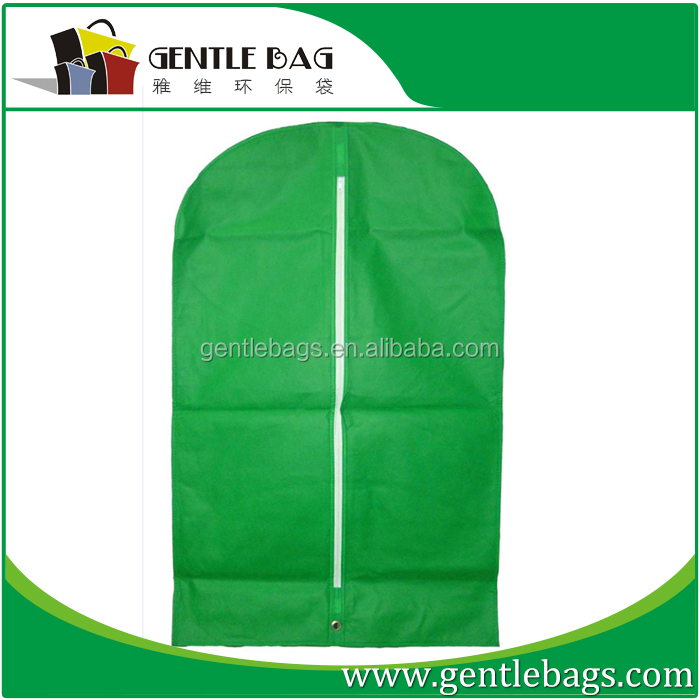 Promotion PP non woven recyle protective suit bag pvc window covers