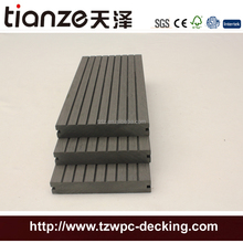 Green color plastic timber composite outside patio wpc decking
