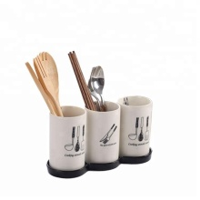 Hot sale storage kitchenware utensil holders kithroom ceramic chopsticks spoon holder