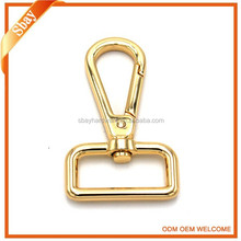 Metal d ring snap hook / solid brass snap hook