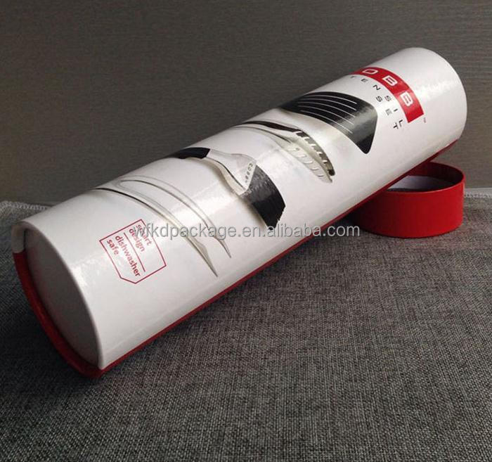 cardboard tube packaging for tableware ladle fork scoop paper container
