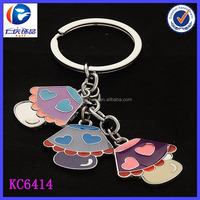 Colorful Mushroom Shaped Metal Table Lamp Style Keychain
