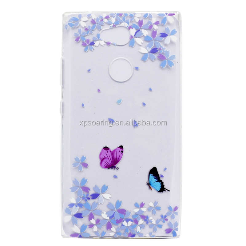 Transparent Soft case back cover for Sony Xperia <strong>L2</strong>, angel printed cover for Sony Xperia <strong>L2</strong>