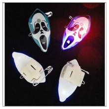 promotion Hallowmas brooch Halloween skull led brooch