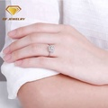Women`s square diamond wedding ring engagement ring