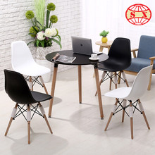 cheap computer chairs company plastic table and wooden feet chair Table and Chair