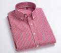 Top quality 100% cotton men 's check short sleeve fitness men's dress shirt chinese clothing manufacturers