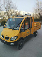 Closed 3 wheel electric cargo truck vehicle for sale