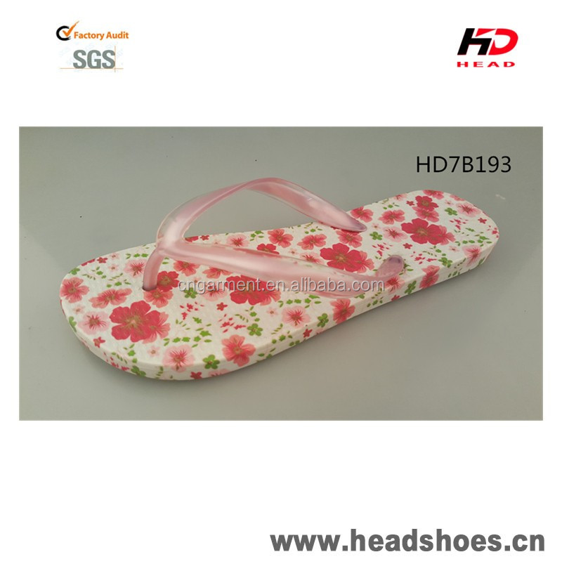 High Quality floral PCU PVC comfortable colorful bright gorgeous nice fashion newest model women flip flops