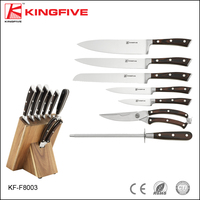 KINGFIVE 8 pcs stainless steel kitchen knife set
