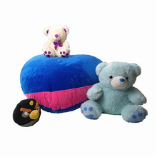Heart shape lovely Extra Large Stuffed Plush Animal Toy Storage Bean Bag Filling kids gifts