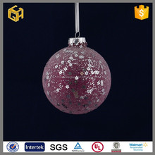 2015 New products colored glass balls with holes