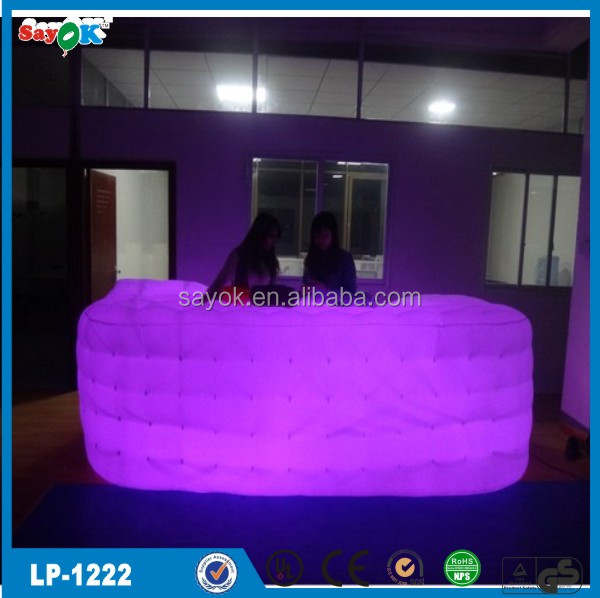 Shinning advertisment inflatable bar for sale