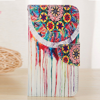 2015 Vintage Style Leather PU Flip Case For Samsung Galaxy S5 mini Fashion Painting Cover Cases With Wallet & Stand Function PY