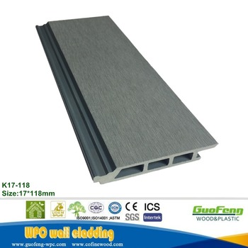 Exterior wood plastic composite wall panels for building