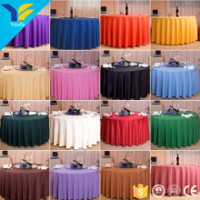 Guangzhou custom hall party decoration table cover cloth 100% polyester round wedding table cloth