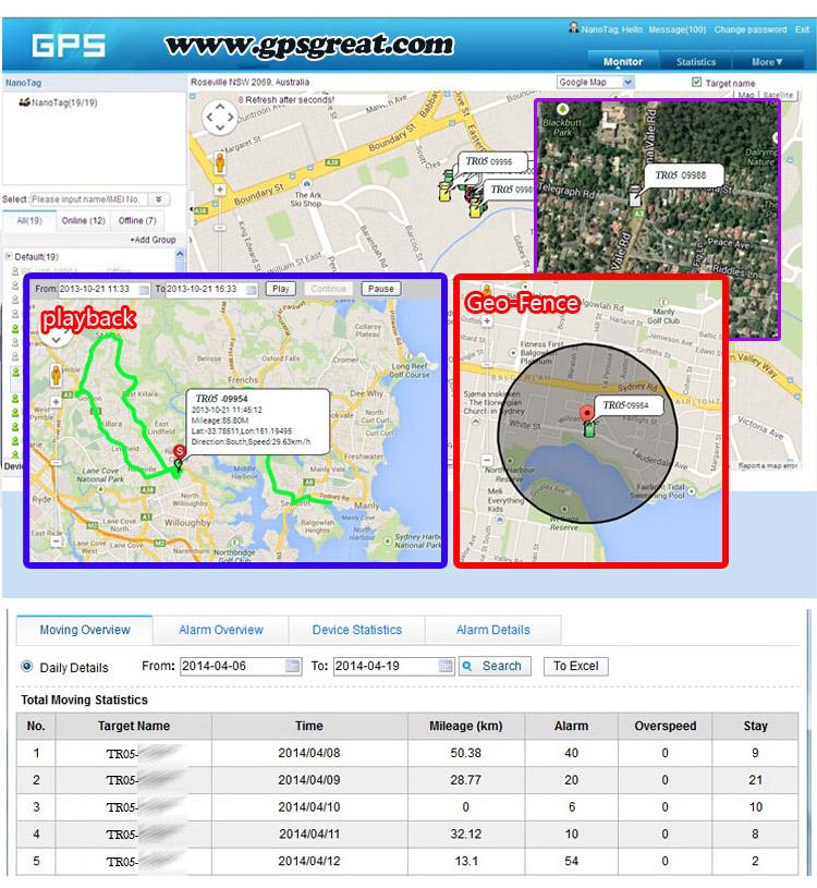 Google maps fácil instalar gps carro sistema de rastreamento de gestão de frotas