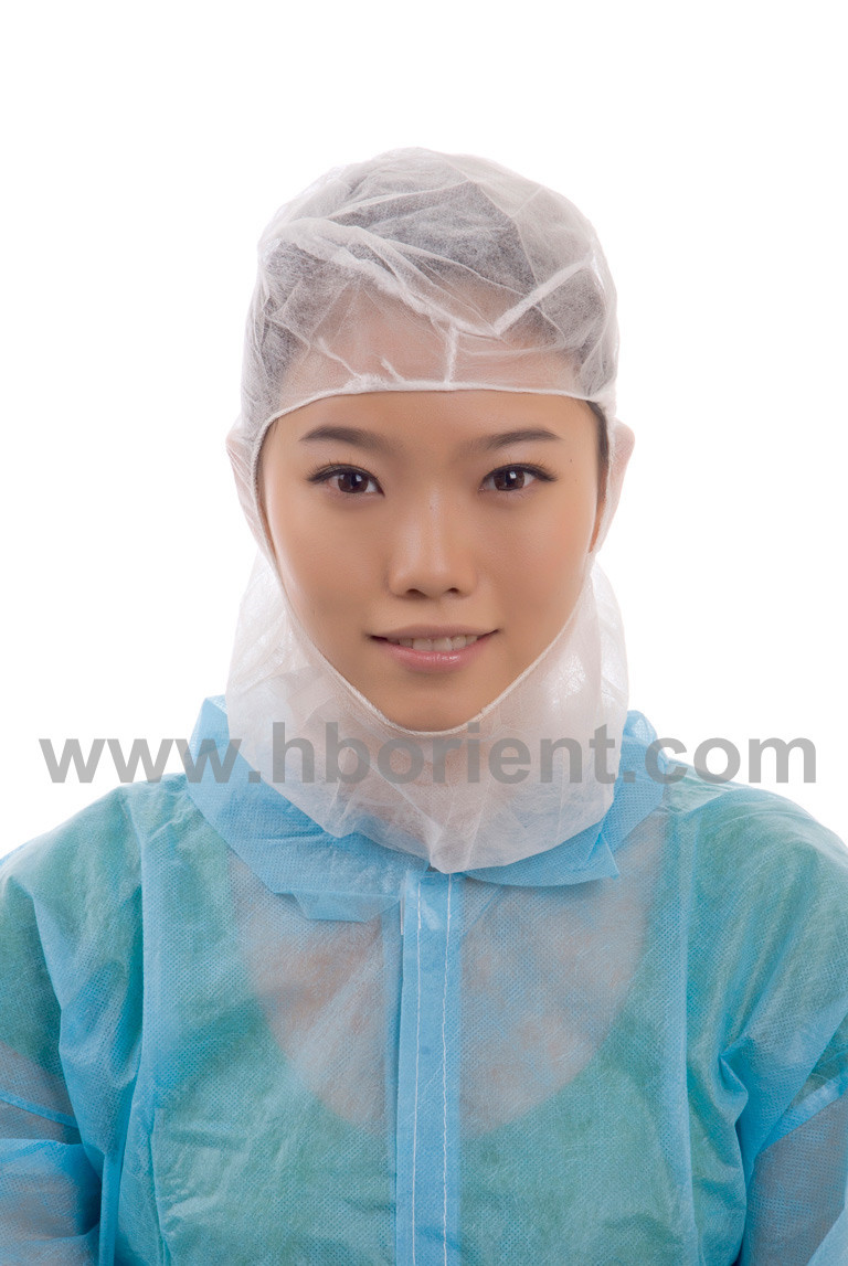 Disposable breathable nonwoven hood