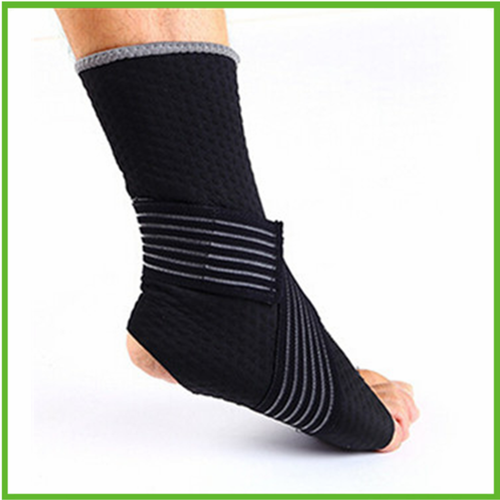 High quality Neoprene basketball ankle strap Black Velcro Ankle brace