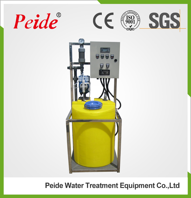 Online automatic chemical dosing system with chemical dosing pump and ph controller