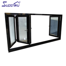 Aluminum Profile new design meet Florida code fire rated folding patio windows