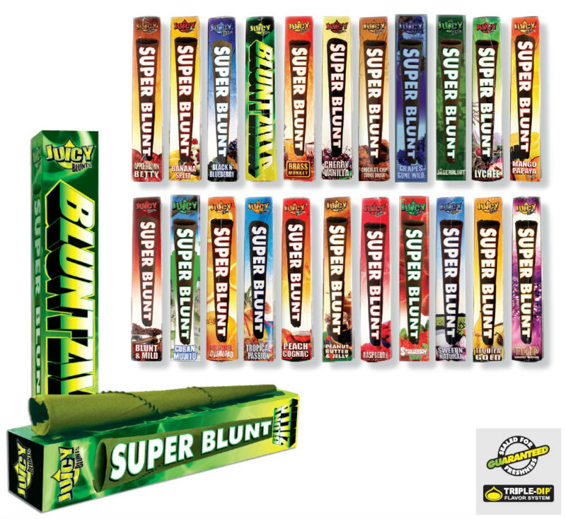 Original Juicy Jay's SUPER BLUNTS, with a length of 23 cm! .18 units.