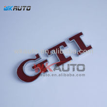 red color GTI ABS chrome car badges
