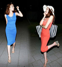 2013 KOREAN WOMEN'S NEW FASHION PURE COTTON MODAL DRESS